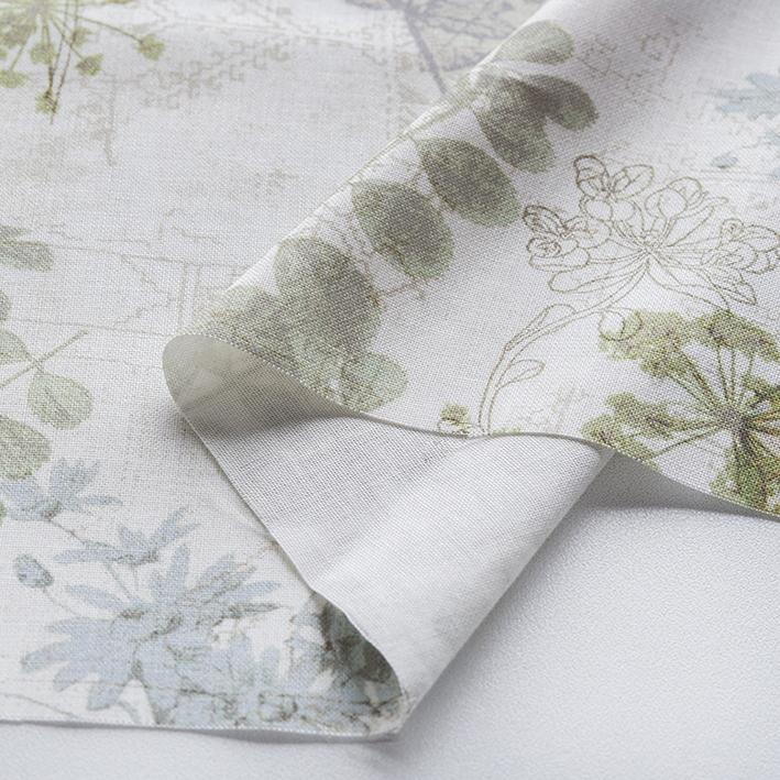 textile pantry JUNKO MATSUDA コラージュリーフ シーチング生地
